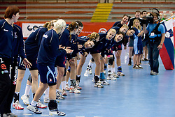 Team of Slovenia at Women European Championships Qualifying handball match between National Teams of Slovenia and Belarus, on October 17, 2009, in Kodeljevo, Ljubljana.  (Photo by Vid Ponikvar / Sportida)
