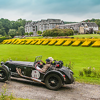 Bob Meijer and Gerard Van Lennep in their Riley Sprite  on the Royal Automobile Club 1000 Mile Trial 2015
