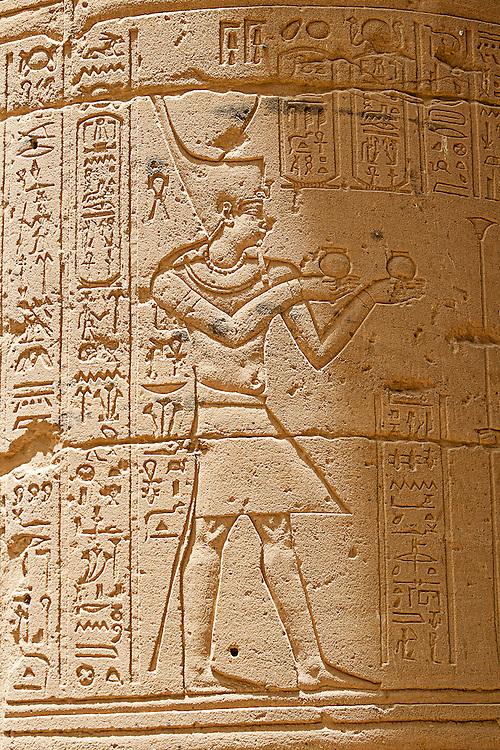 Hieroglyphics At Philae Temple, Aswan, Egypt