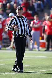 17 November 2012:  Back Judge Gary Crull during an NCAA Missouri Valley Football Conference football game between the North Dakota State Bison and the Illinois State Redbirds at Hancock Stadium in Normal IL