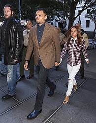 Feb. 3, 2014 - Los Angeles, California, U.S - R&B singer Chris Brown arrives at a Los Angeles Superior Court for a probation review hearing on Monday, Feburary. 3, 2014, in Los Angeles, California. (Credit Image: © Ringo Chiu/ZUMAPRESS.com)