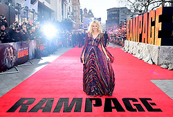 Malin Akerman attending the European premiere of Rampage, held at the Cineworld in Leicester Square, London. Picture date: Wednesday April 11, 2018. See PA story SHOWBIZ Rampage. Photo credit should read: Ian West/PA Wire