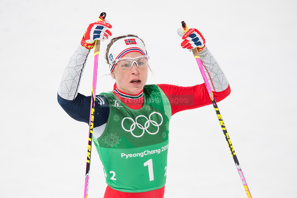February 17, 2018 - Pyeongchang, SOUTH KOREA - 180217 Astrid Uhrenholdt Jacobsen of Norway looks dejected after competing in the WomenÃ•s Cross Country Skiing 4x5 km Relay during day eight of the 2018 Winter Olympics on February 17, 2018 in Pyeongchang..Photo: Petter Arvidson / BILDBYRN / kod PA / 87632 (Credit Image: © Petter Arvidson/Bildbyran via ZUMA Press)