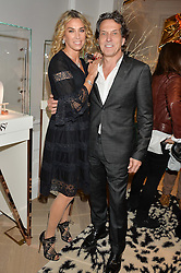 STEPHEN & ASSIA WEBSTER at a private view of Stephen Webster's new White Kite collection held at his flagship store at 130 Mount Street, London on 24th November 2016.