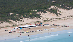 Aerial view Cable Beach polo 2013
