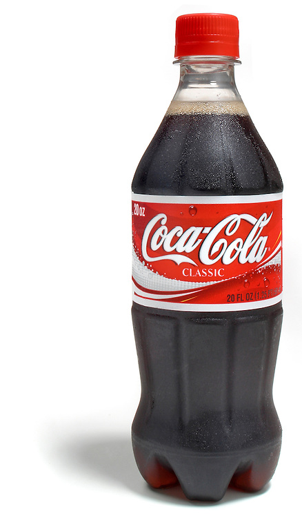 coca-cola in a plastic bottle