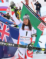 28.01.2018, Lenzerheide, SUI, FIS Weltcup Ski Alpin, Lenzerheide, Slalom, Damen, Siegerehrung, im Bild Wendy Holdener (SUI) // Wendy Holdener of Switzerland during the winner Ceremony for the ladie's Slalom of FIS Ski Alpine World Cup in Lenzerheide, Austria on 2018/01/28. EXPA Pictures © 2018, PhotoCredit: EXPA/ Sammy Minkoff<br /> <br /> *****ATTENTION - OUT of GER*****
