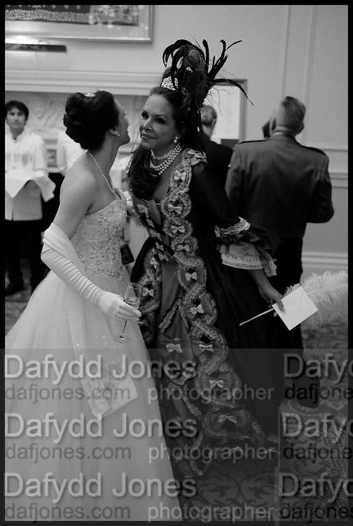 ELIZABETH SQUIRE; FIONA DAVIDOFF,, The St. Petersburg Ball. In aid of the Children's Burns Trust. The Landmark Hotel. Marylebone Rd. London. 14 February 2015.