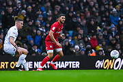 Bristol City forward Nahki Wells (21) passes the ball during the EFL Sky Bet Championship match between Leeds United and Bristol City at Elland Road, Leeds, England on 15 February 2020.