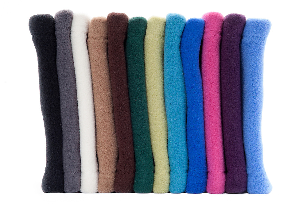 Many Weathers Spring Collection of fleece neck warmers