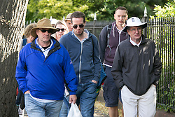 © Licensed to London News Pictures. 29_07_2015. Pictured, fans arriving at the ground. Cricket fans arriving at Edgbaston cricket  ground for the start of the third test against Australia. Photo credit : Dave Warren/LNP
