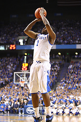 UK guard Darius Miller shoots a floater in the lane during the first half. UK hosted Ole Miss Saturday, Feb. 18, 2012 at Rupp Arena in Lexington.