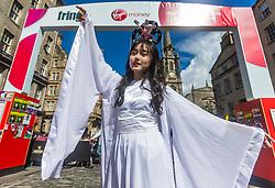Cast members of Shenzhen's First International Children's Drama on Edinburgh's Royal Mile