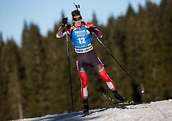 Julian Eberhard (AUT) in action during the Men 10km Sprint at day 6 of IBU Biathlon World Cup 2018/19 Pokljuka, on December 7, 2018 in Rudno polje, Pokljuka, Pokljuka, Slovenia. Photo by Vid Ponikvar / Sportida