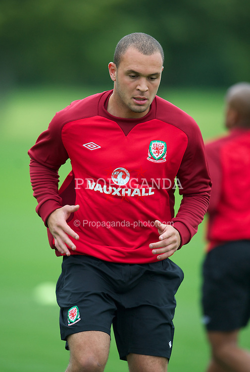 CARDIFF, WALES - Monday, August 13, 2012: Wales' Joel Lynch during a training session at the Vale of Glamorgan ahead of the international friendly match against Bosnia-Herzegovina. (Pic by David Rawcliffe/Propaganda)