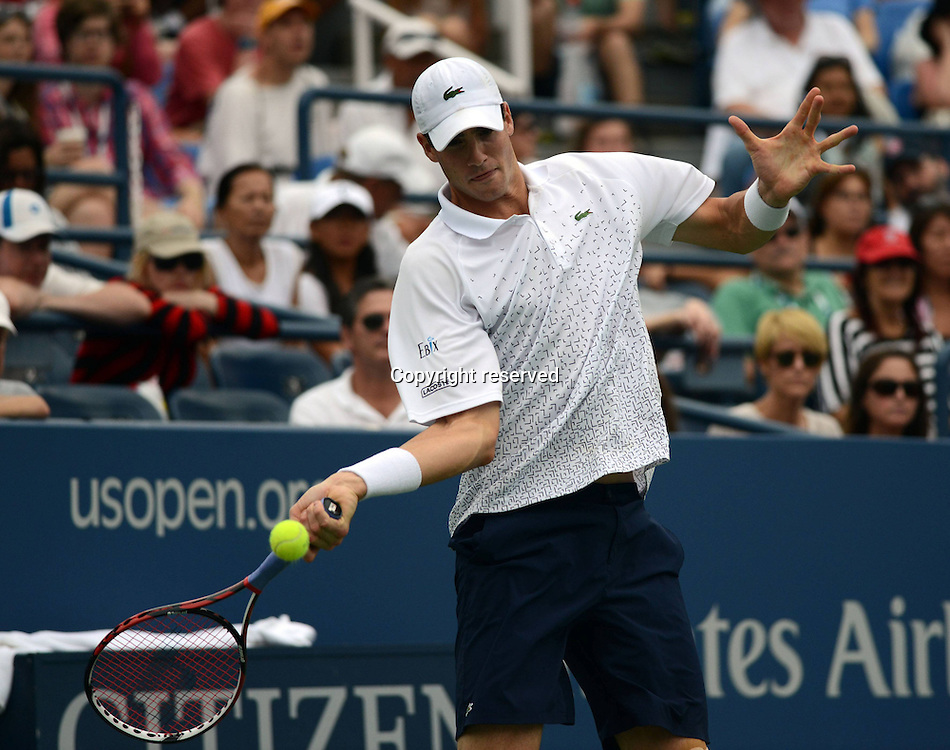 30.08.2014. Flushing Meadows, New York, USA. US Open tennis championships.  John Isner (USA)