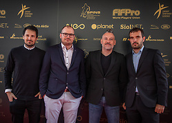 Aljosa Zvirc, Jure Bohoric and Andrej Miljkovic during SPINS XI Nogometna Gala 2019 event when presented best football players of Prva liga Telekom Slovenije in season 2018/19, on May 19, 2019 in Slovene National Theatre Opera and Ballet Ljubljana, Slovenia. ,Photo by Urban Meglic / Sportida
