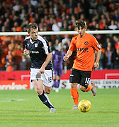 Dundee's Paul McGowan and United's Charlie Teller - Dundee United v Dundee at Tannadice<br /> - Ladbrokes Premiership<br /> <br />  - © David Young - www.davidyoungphoto.co.uk - email: davidyoungphoto@gmail.com