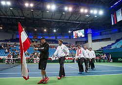04.04.2014, Aegon Arena, Bratislava, SVK, ITF, Davis Cup, Slowakei vs Oesterreich, 2. Runde, Europa-Afrika-Zone I, im Bild Mannschaft Österreich // Mannschaft Österreich during the 2nd round of Europe Africa zone one of ITF Davis Cup between Slovakia and Austria at the Aegon Arena in Bratislava, Slovakia on 2014/04/04. EXPA Pictures © 2014, PhotoCredit: EXPA/ Michael Gruber