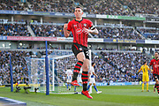 GOAL - 0-1 Southampton midfielder Pierre-Emile Hojbjerg (23) celebrates during the Premier League match between Brighton and Hove Albion and Southampton at the American Express Community Stadium, Brighton and Hove, England on 30 March 2019.