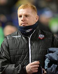 Bolton Wanderers Manager, Neil Lennon looks on - Photo mandatory by-line: Richard Martin-Roberts/JMP - Mobile: 07966 386802 - 10/02/2015 - SPORT - Football - Bolton - Macron Stadium - Bolton Wanderers v Fulham - Sky Bet Championship