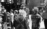 Punks, Carnaby St, London, UK, 1980s.
