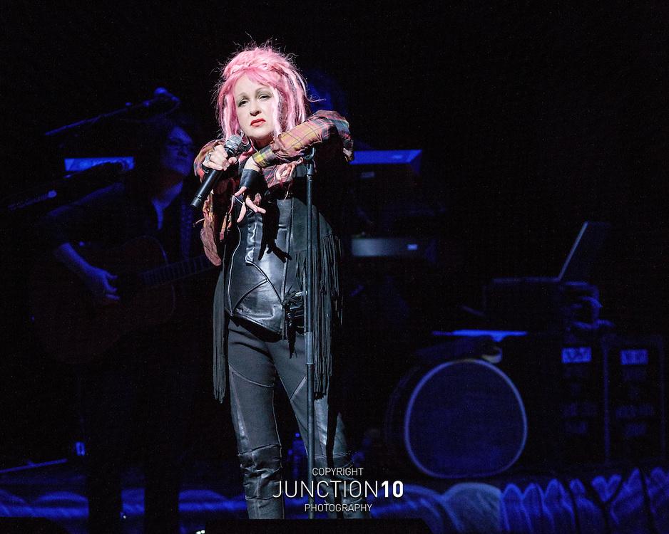 Cyndi Lauper at the Symphony Hall, Birmingham, United Kingdom<br /> Picture Date: 22 June, 2016