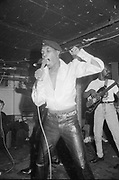 Desmond Dekker playing live, UK, 1980s.