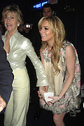"**EXCLUSIVE**.Jane Fonda & Lindsay Lohan dancing.""Georgia Rule"" Premiere Post Party.China Club.New York, NY, USA .Tuesday, May, 08, 2007.Photo By Celebrityvibe.To license this image call (212) 410 5354 or;.Email: celebrityvibe@gmail.com; ."