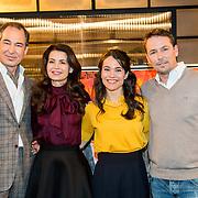 NLD/Amsterdam/20180322 - bekendmaking van nieuwe personages Goede Tijden, Slechte Tijden (GTST, Erik de Vogel met partner Caroline de Bruijn, Lidewij Mahler en Tim Immers
