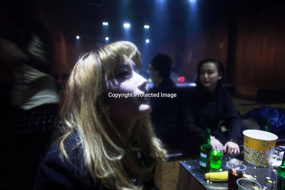 BEIJING, NOVEMBER -24 : a young woman in an underground lesbian club in Beijing.