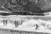 Rough sea, Argentiera Beach July 15, 2017