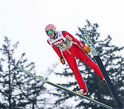 03.01.2015, Bergisel Schanze, Innsbruck, AUT, FIS Ski Sprung Weltcup, 63. Vierschanzentournee, Training, im Bild Dawid Kubacki (POL) // Dawid Kubacki of Poland in action during Trial Jump of 63 rd Four Hills Tournament of FIS Ski Jumping World Cup at the Bergisel Schanze, Innsbruck, Austria on 2015/01/03. EXPA Pictures © 2015, PhotoCredit: EXPA/ Peter Rinderer