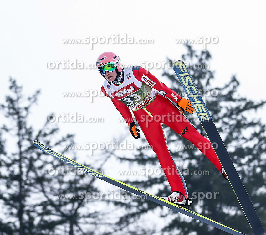 03.01.2015, Bergisel Schanze, Innsbruck, AUT, FIS Ski Sprung Weltcup, 63. Vierschanzentournee, Training, im Bild Dawid Kubacki (POL) // Dawid Kubacki of Poland in action during Trial Jump of 63 rd Four Hills Tournament of FIS Ski Jumping World Cup at the Bergisel Schanze, Innsbruck, Austria on 2015/01/03. EXPA Pictures © 2015, PhotoCredit: EXPA/ Peter Rinderer