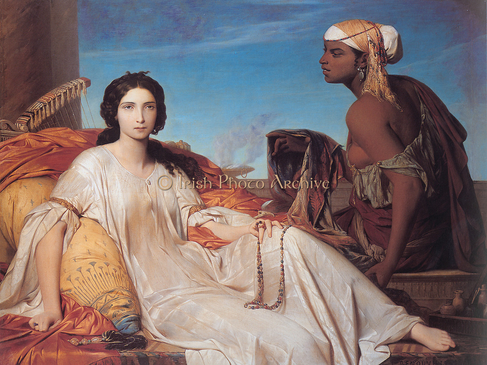 Painting of  a Bible character from the Old Testament. Esther (1844) by Francois Leon Benouville (1821-1859) French painter