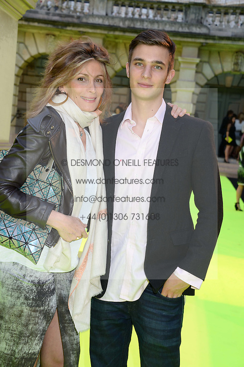 MARYAM SACHS and her son FREDERIK SACHS at the preview party for The Royal Academy Of Arts Summer Exhibition 2013 at Royal Academy of Arts, London on 5th June 2013.