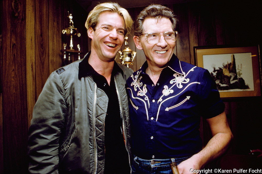 Jerry Lee Lewis and Dennis Quaid. © Karen Pulfer Focht-ALL RIGHTS RESERVED-NOT FOR USE WITHOUT WRITTEN PERMISSION