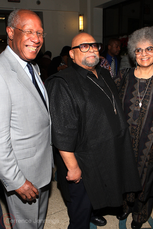 6 January 2011- Harlem, New York- l to r: Howard Dodson, and Maulana Karenga at the Opening for The State of African American and African Diaspora Studies Conference held at the The Schomburg Center for Research in Black Culture on January 6, 2011 in the Village of Harlem. Photo Credit Terrence Jennings
