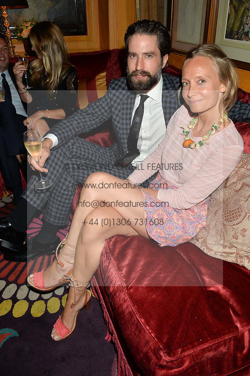 JACK GUINNESS and MARTHA WARD at an exclusive dinner for Iris Apfel held at Annabel's, Berkeley Square, London on 29th July 2015.