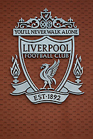Football - 2019 / 2020 Premier League - Liverpool vs. Wolverhampton Wanderers<br /> <br /> The Liverpool FC on the side of the Main Stand, at Anfield.<br /> <br /> COLORSPORT/ALAN MARTIN
