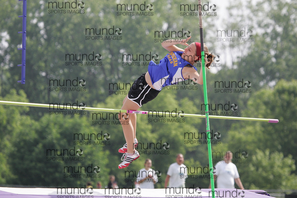 (London, Ontario}---05 June 2010) \\ the midget girls and junior girls pole vault at the 2010 OFSAA Ontario High School Track and Field Championships in London, Ontario, June 05, 2010 . Photograph copyright Julie Robins / Mundo Sport Images, 2010.