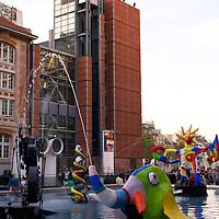 The Stravinsky Fountain near the Centre Pompidou in Paris.