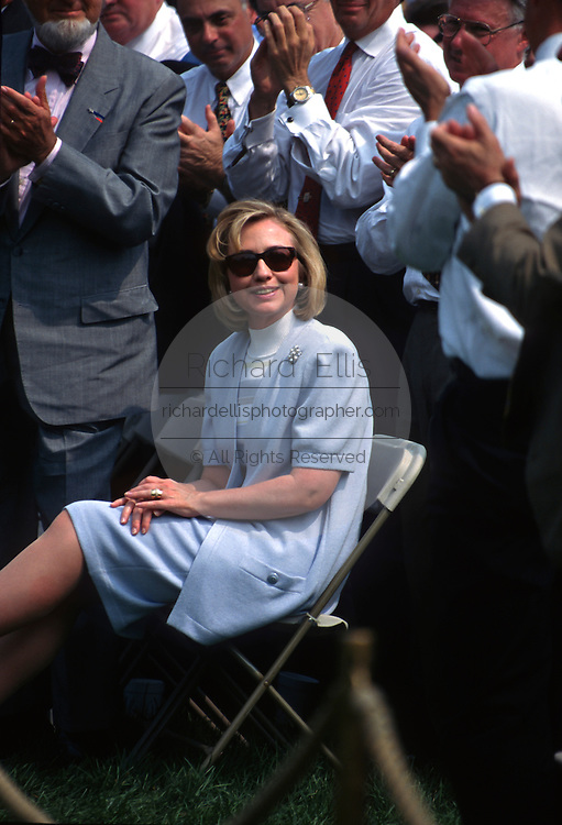 U.S first lady Hillary Clinton during a White House event May 5, 1997 in Washington, DC.
