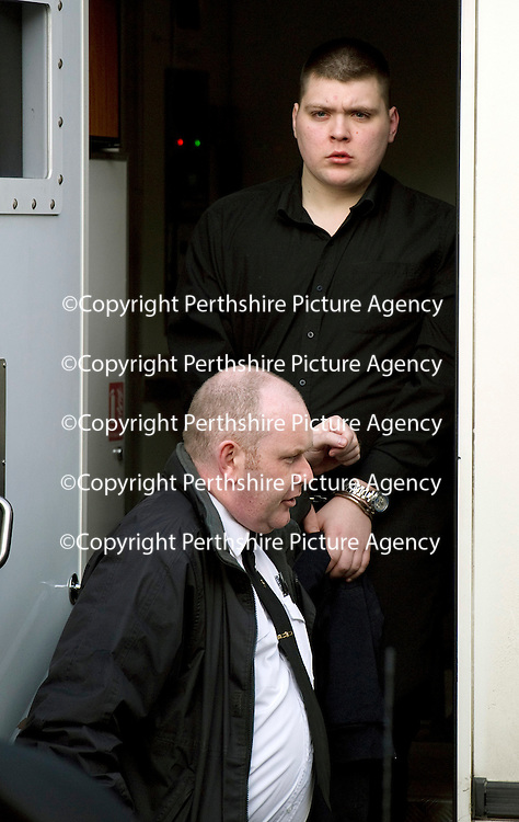 Perth High Court....7.12.2011..... Raemonn Gormley Murder Trial<br /> Daryn Maxwell who was jailed for life for the murder of Raemonn Gormley with a minimum term of 19 years<br /> (Please see Gordon Currie story 01738 446766).<br /> <br /> NO BYLINE TO BE USED WITH IMAGE.<br /> COPYRIGHT: Perthshire Picture Agency.<br /> Tel. 01738 623350 / 07775 852112.