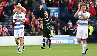 Football - 2016 / 2017 Scottish League Cup - Semi-Final - Greenock Morton vs. Aberdeen<br /> <br /> Andrew McNeil of Morton waves to the fans after the semi final at Hampden Park.<br /> <br /> COLORSPORT/LYNNE CAMERON
