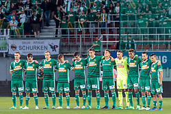 01.06.2017, Woerthersee Stadion, Klagenfurt, AUT, OeFB Samsung Cup, SK Rapid Wien vs FC Red Bull Salzburg, Finale, im Bild Gedenkminute SK Rapid Wien // during the Final Match of the Austrian Samsung Cup between SK Rapid Wien and FC Red Bull Salzburg at the Woerthersee Stadion in Klagenfurt, Austria on 2017/06/01. EXPA Pictures © 2017, PhotoCredit: EXPA/ Johann Groder