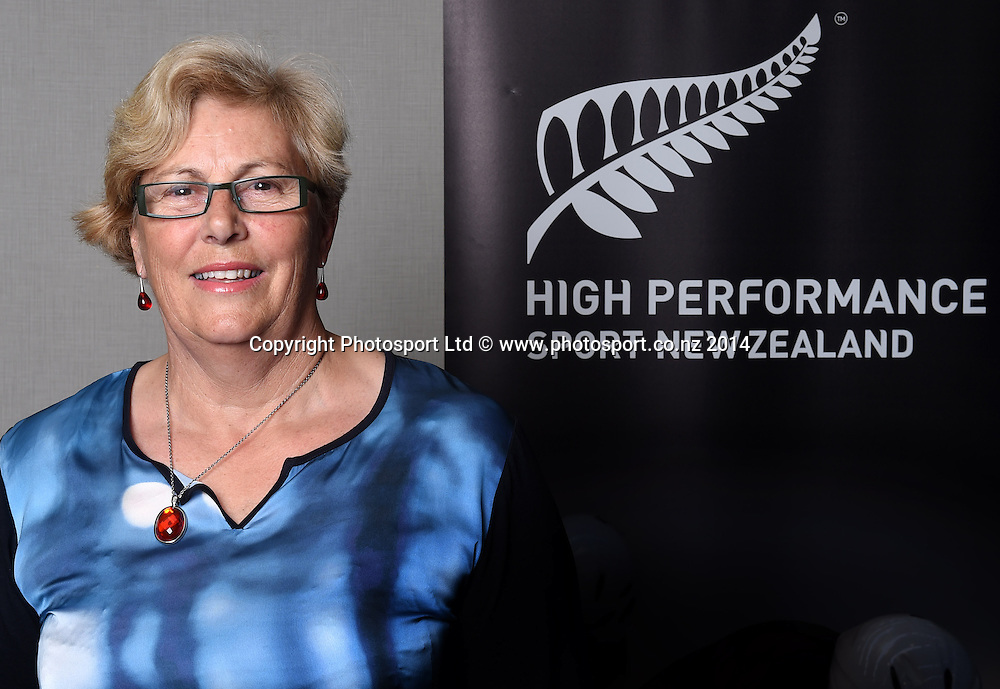 Leigh Gibbs. High Performance Sport New Zealand Coach Recognition Dinner, Waipuna Lodge, Auckland, New Zealand. Thursday 2 October 2014. Photo: Andrew Cornaga / www.photosport.co.nz