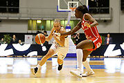 Julie Allemand of Lyon and Catherine Mosengo-Masa of Mondeville during the Women's French Championship Basketball match between Lyon Asvel Feminin and USO Mondeville on January 26, 2018 at Palais des Sports de Gerland in Lyon, France - Photo Romain Biard / ISports / ProSportsImages / DPPI