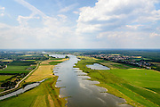 Nederland, Gelderland, Gemeente Buren, 26-06-2013; Neder-rijn ter hoogte van De Tollenwaard (links) en De Buitenwaarden (rechts). Strekdammen of kribben.<br /> Lower-rhine.<br /> luchtfoto (toeslag op standaard tarieven);<br /> aerial photo (additional fee required);<br /> copyright foto/photo Siebe Swart.