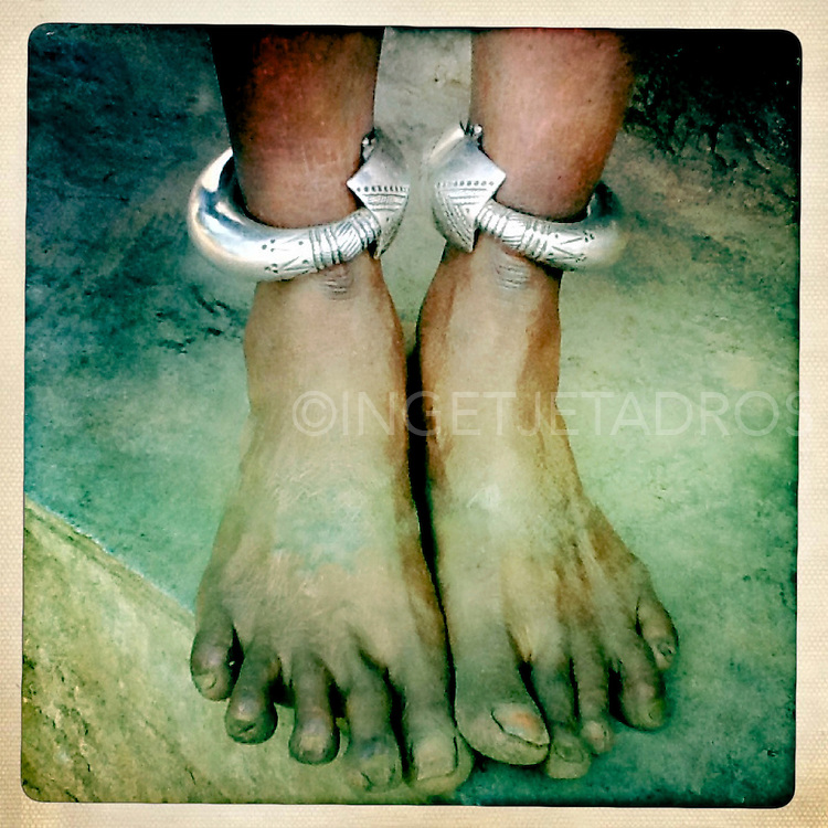 feet with bangles